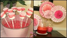 pink party drink embelishments