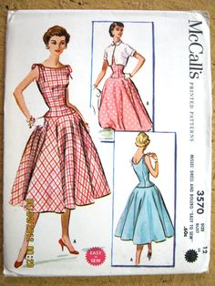 McCall's 3570: drop waist to a circle, love it