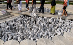 The Hands from Hell at the White Temple in Thailand