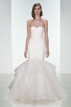 Amsale fishtail wedding gown