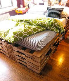 wood diy, storage spaces, crate bed frame, bedroom decor, bed frames