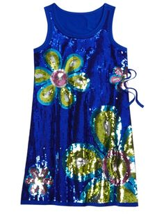 Allover Sequin Flower Dress | Girls Dresses Clearance | Shop Justice (we saw this dress in the store, so cute!)