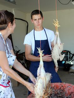 Life In A Little Red Farm House: Butchering chickens