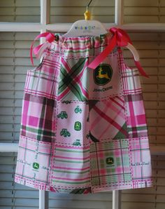 john deere pink tractor newborn toddler girl by deidrabunn on Etsy, $15.00