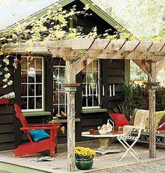 Shaded garden patio