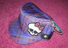 MONSTER HIGH GIRLS PLAID HAT NEW with tags cap