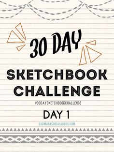 The 30-day sketchbook challenge has officially begun! Share your drawings using the tag #30daysketchbookchallenge! Have fun with your first drawing!! :)