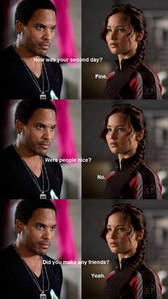 Did you make any friends? #cinna #katniss #hungergames #meangirls