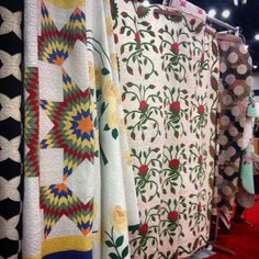 Vintage quilts were also on display at the Quilt Market in Houston, Texas.  #oldschool #blastfromthepast #classicquilts