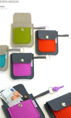 felt pouches -> leather