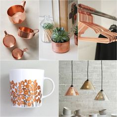 Copper, copper, copper! Our home design director @sarahrdesign scouted these glam metallic touches.