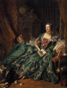 1756 Portrait of Marquise de Pompadour