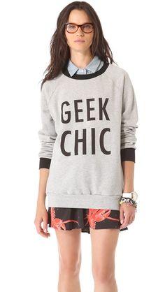 geek chic sweatshirt