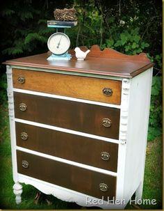 Red Hen Home White & Wood Dresser 2
