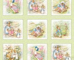 Beatrix Potter Fabric Peter Rabbit Quilt blocks