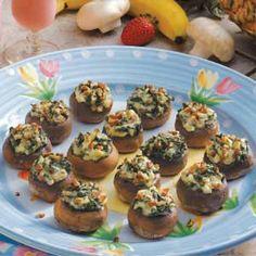 Spinach-Stuffed Mushrooms