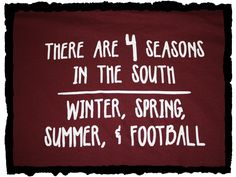 There Are 4 Seasons In The South: Winter, Spring, Summer, And Football!