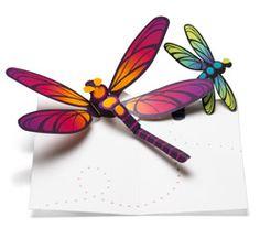 Pop-Up Dragonfly Note Cards by Robert Sabuda: Set of 6 cards with orange envelopes. $16.95