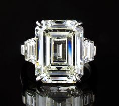 12.6ct Emerald Cut Diamond Platinum Ring circa 1930 on Ebay BIN $380,000