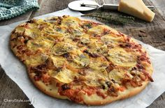 Potato cheese flatbr