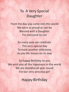 Darling Daughters on Pinterest | Daughter Poems, Daughter ...