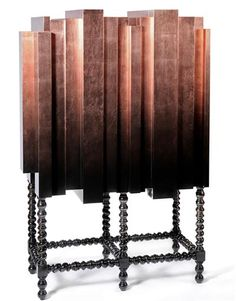 Mahogany and Copper Leaf, D. Manuel Bar Cabinet from Boca do Lobo.
