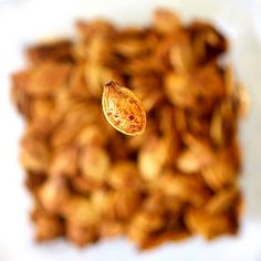 Delicious Roasted Pumpkin Seeds and How to Take This Picture {The Girl Who Ate Everything}