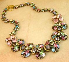 recycl jewelri, statement necklaces, color, recycl necklac, jeweleri idea