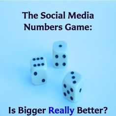 The Social Media Numbers Game: Is Bigger Really Better?  http://www.JenniferHerndon.com
