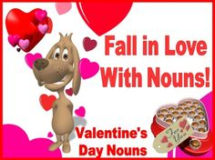 "This ""Fall In Love With Nouns"" powerpoint lesson is a fun way to review nouns with your students on Valentine's Day."