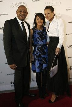 Forest Whitaker his dauhter Autumn, and wife Keisha at the Huffington Post Pre-Inauguration ball
