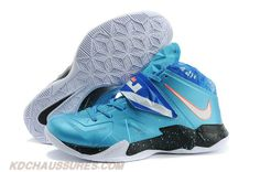 Bleu/Orange Nike Lebron Zoom Soldier VII Galaxy 599264-403