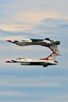 Thunderbirds at the Alaska Air Show in Anchorage, Alaska... They have been to Anchorage many times in the summer!