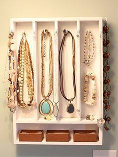 jewelry storage from a kitchen storage drawer