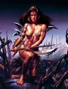 ... Women Warriors Glitter Graphics Myspace orkut Women warrior Fantasy