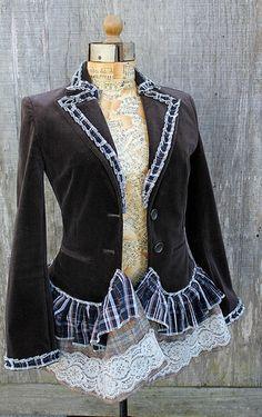 altered refashioned jacket