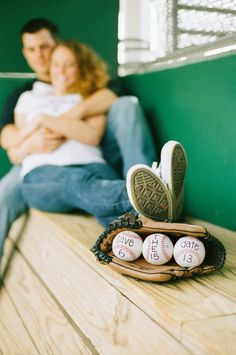 engagement session baseball photos save the date