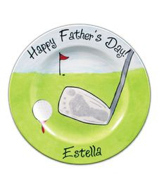 For the dad that loves Golf! Baby footprint turned into golf club.