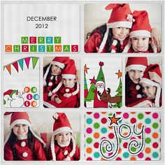 Love this project life page. #christmas #red #white #hats #scrapbook #layout