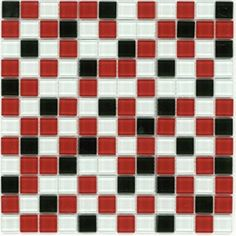 Elida Ceramica 12-in x 12-in Beep Bop Love Glass Wall Tile
