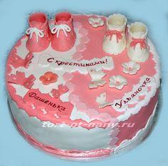 Торт для двойняшек девочек без мастики
