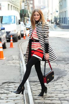 Olivia Palermo looking stripey and chic