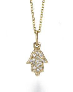 hamsa pendant, diamond hamsa, pendant necklac, pendants, diamonds, necklaces, natali diamond, 14kt natali