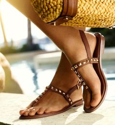 Studded #sandals Michael Kors