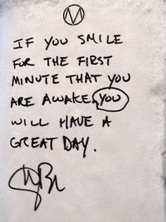 ...wear a smile...you will be prettier. <3