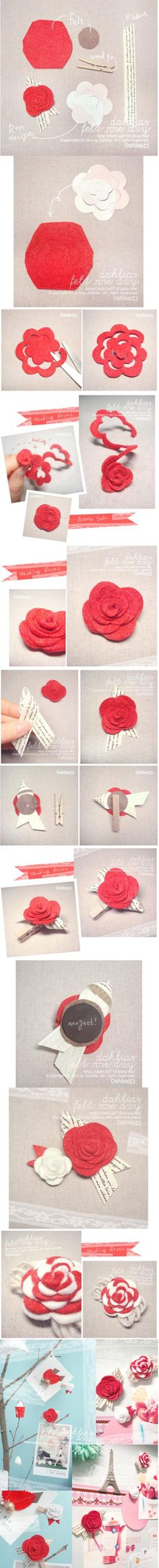 craft flowers, wrap gifts, felt projects, flower crafts, paper flowers, flower tutorial, kid crafts, paper crafts, felt flowers