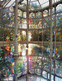 Let's go swimming: Rainbow Pool, Madrid, Spain