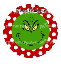 Grinch Christmas Circle Merry Christmas or Your Name Personalized DIY Printable Iron Transfer childrens favorite Dr Seuss. $4.00, via Etsy.