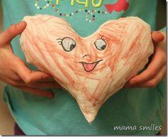 Color-me heart friend stuffie - fun, artistic Valentine's Day gift!