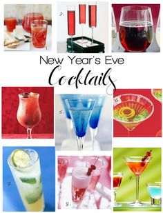 Whip up some of these delicious New Years Eve Cocktails! Get the recipes on Delish Dish: http://www.bhg.com/blogs/delish-dish/2012/12/26/new-years-eve-cocktails/